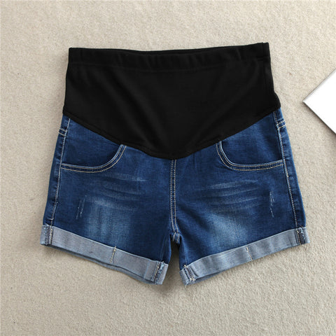New Maternity Shorts Jeans Pants For Pregnant Women Denim Belly Elastic Waist  Adjustsable Jeans Short For Pregnancy Clothes
