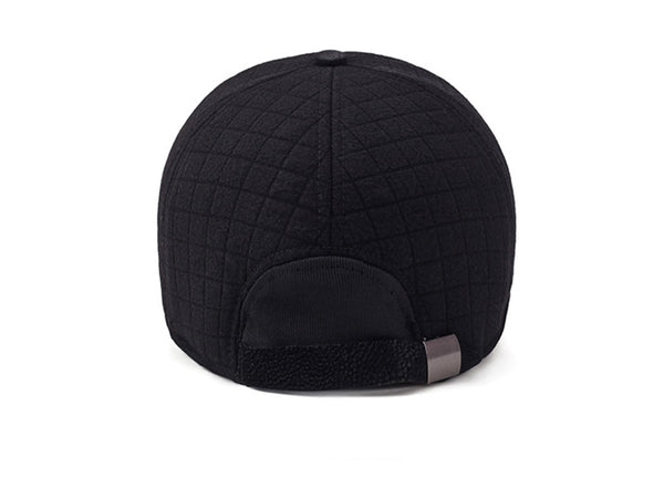Winter Thicker Baseball Cap For Men With Earflaps Keep Warm Cotton Snapback Cap Men Father Hat Ear Protection Casquette