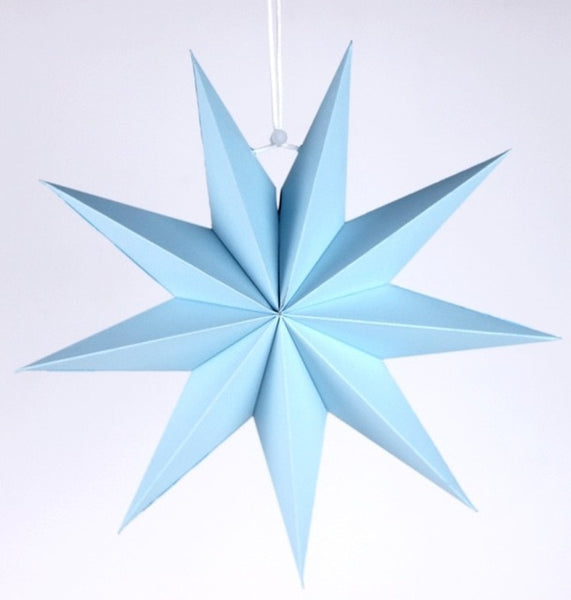30cm 1x Folded Paper Star Lanterns 3D Hanging Paper Stars for Wedding Birthday Showers Home Evening Party Window Decoration