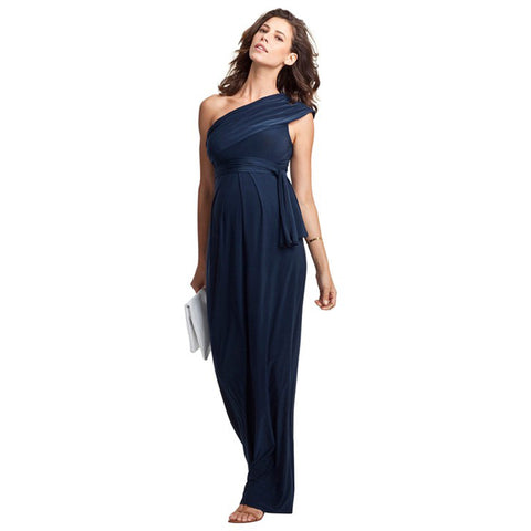 Shoulderless Maternity Dress Loose Elegant Evening Party Dress For Pregnant  Women Long Ball Gowns Office Lady 4a64ff9fb495