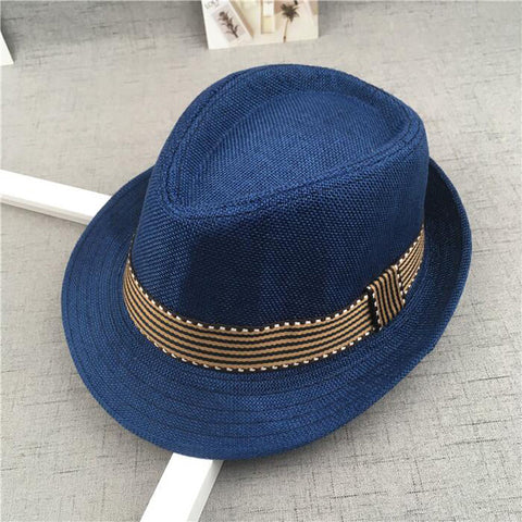 New Straw Cap Baby Hats Children Jazz Cap Bucket Hat Sun Cap Summer Hat For Girls Boys Panama Hat Photography Props