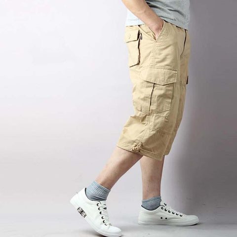 Pants Summer Men's 7 Minutes Pants Casual Baggy Pants Loose Overall Man Male Short Trousers Mens Bottoms