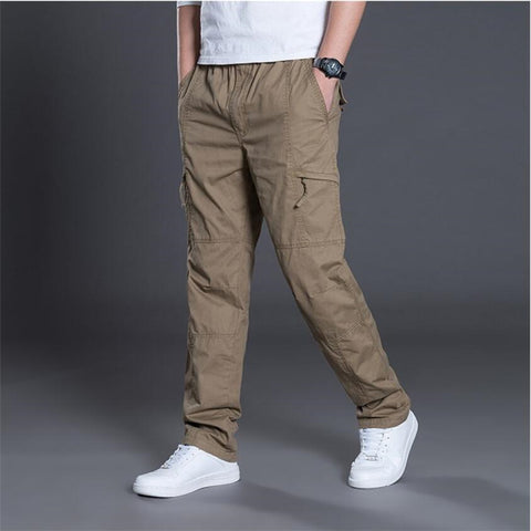 New Men's Cargo Pants Cotton Trousers Overalls Casual Straight Pants Men Baggy Combat Military Tactical Pants Plus Size 5XL 6XL