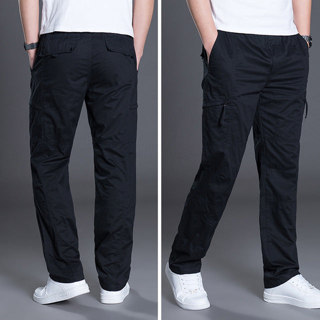 3a035512b8b3 New Men s Cargo Pants Cotton Trousers Overalls Casual Straight Pants ...