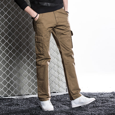 Autumn New Cotton Military Pants Good Quality Multi Pockets Cargo Pants Military Style