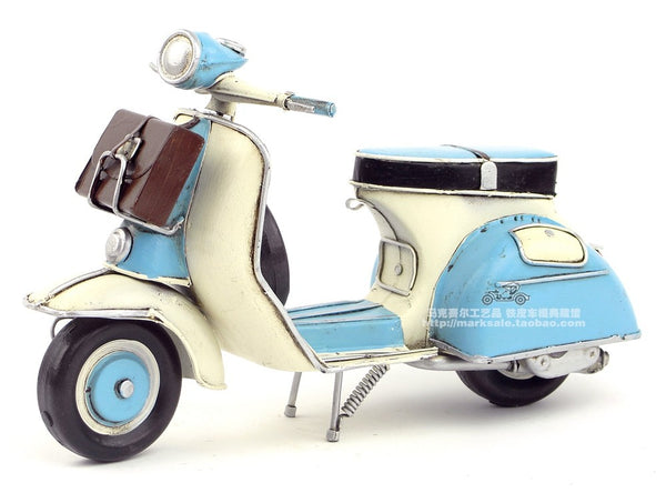 Wrought Iron Trim Handmade Metal Italy Pedal Motorcycle Model Manual Home Decoration Arts and Crafts Birthday&Christmas'Gifts