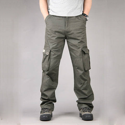 New Fashion Military Cargo Pants Men Casual Cotton Loose Trousers Combat Baggy Multi Pockets Overalls Tactical Pants Men Outwear