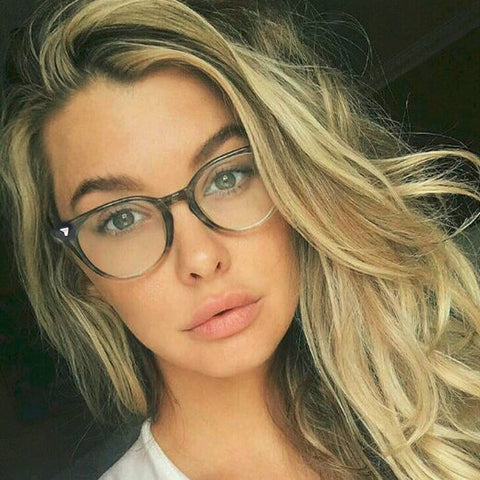 Spectacle Classic Women Round Eyeglasses Frame Brand Designer Fashion Men Nail Decoration Optical Glasses Reading Glasses