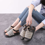 Summer Women Shoes Fashion Casual Roman Sandals Thick Bottom Gladiator Shoes Woman Sandals Flat Sapato Feminino