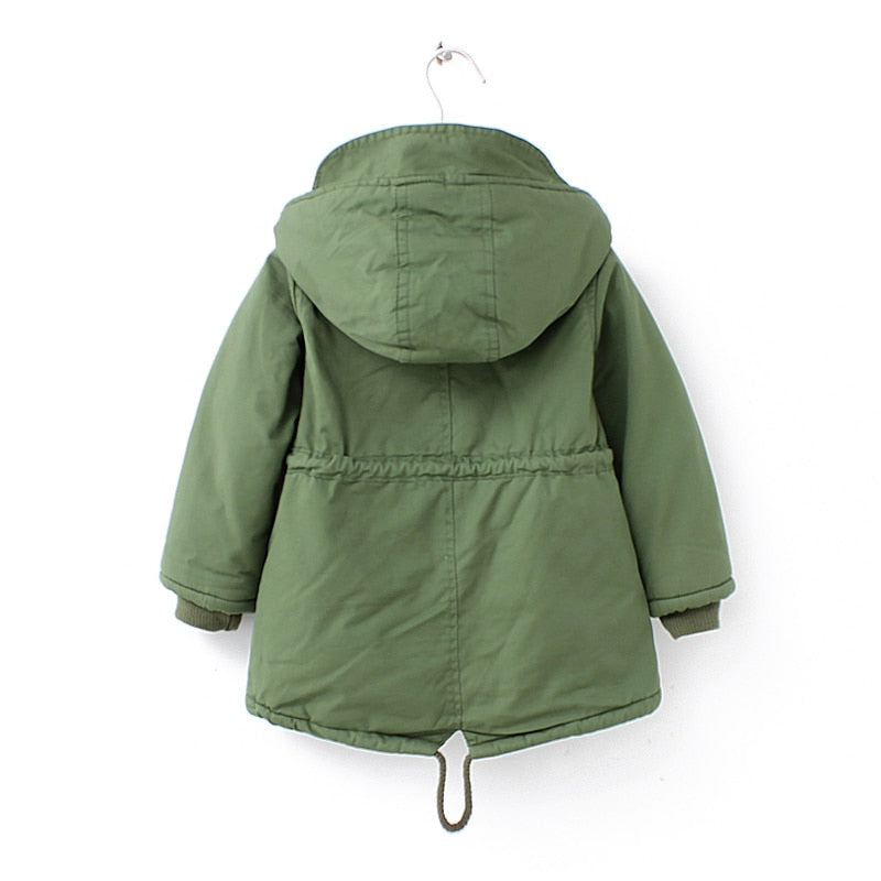 New winter children down & parkas 2-9Y European style boys girls warm outerwear color green blue hooded coats for girls