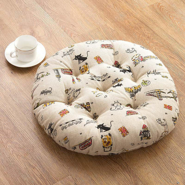 Simple Thicken Chair Cushions Round Car Seat Pad Tatami Floor Pad Mats almofada decorativa Coussin Decorative Pillows For Home