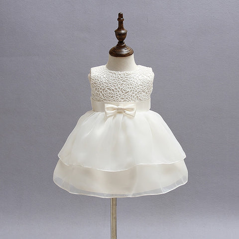 Bebes Christening Girl Tutu Dress Baby Girl Clothes For Infant Party Wear Wedding Kids Dresses 1 2 Years Birthday Dress