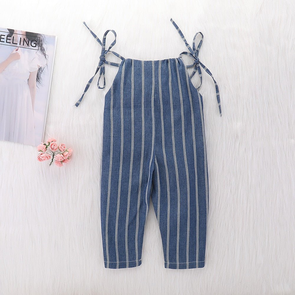 e036d6756 Baby Clothes Girl Summer Strap Rompers White Stripes Print Toddler ...