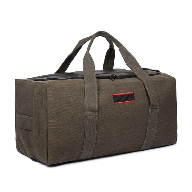 79b244fd61 Canvas Men Travel Bags Carry on Luggage Bags Men Duffel Bag Travel Tot