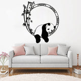 Funny Animal Wall Decal Panda Bamboo Japanese Decor Vinyl Stickers Unique Home Decorative Wall Stickers Removable Poster LC083