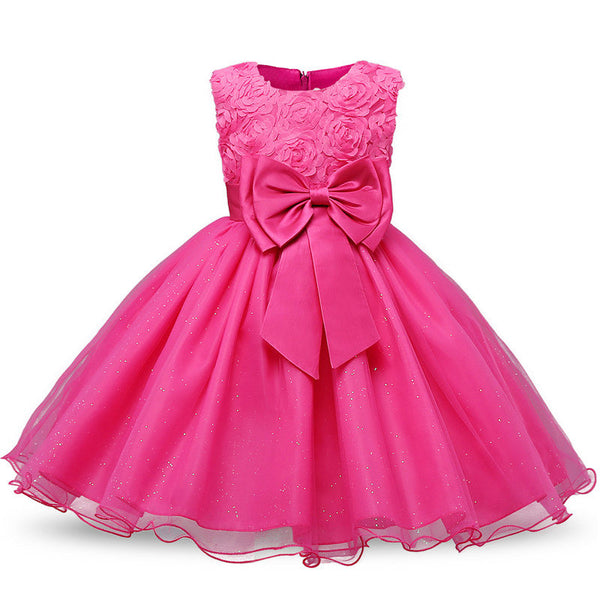 Children's Costume Teenager Prom Designs Princess Flower Girl Dress Summer Tutu Wedding Birthday Party Dresses For Girls