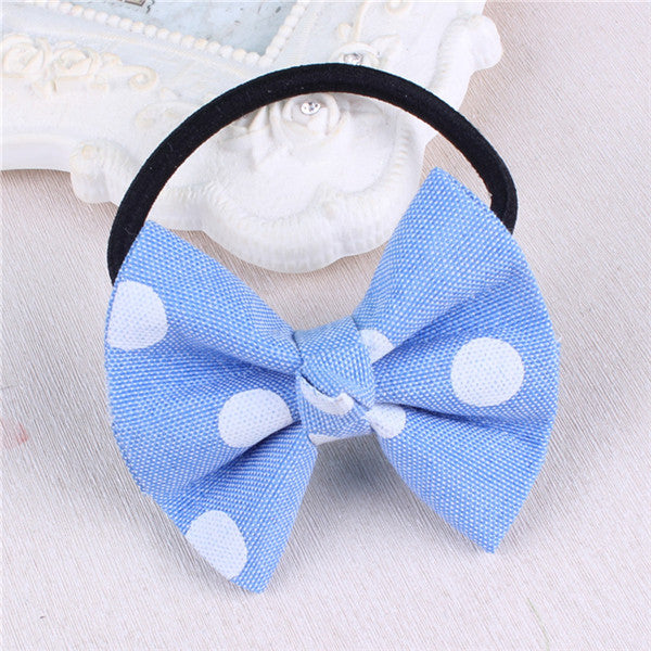 Children hair rope denim bow rope rope point hair ornaments Yiwu small fresh hand tendons wholesale