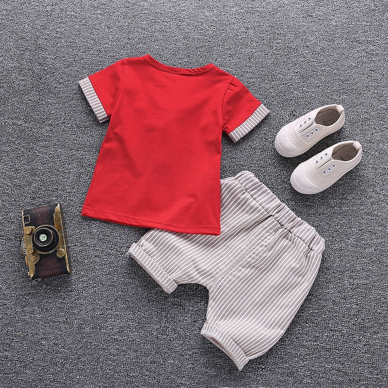 Children Clothing Set Baby Boy Clothes Summer Cartoon New Kids Cotton Cute Sets Baby Boy Outfit Costumes Baby Clothing Set