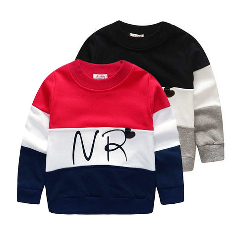 Designer boys sweatshirt cotton t shirt for boys cartoon outwear 2-7 years kids clothes spring autumn boys tops tees clothes