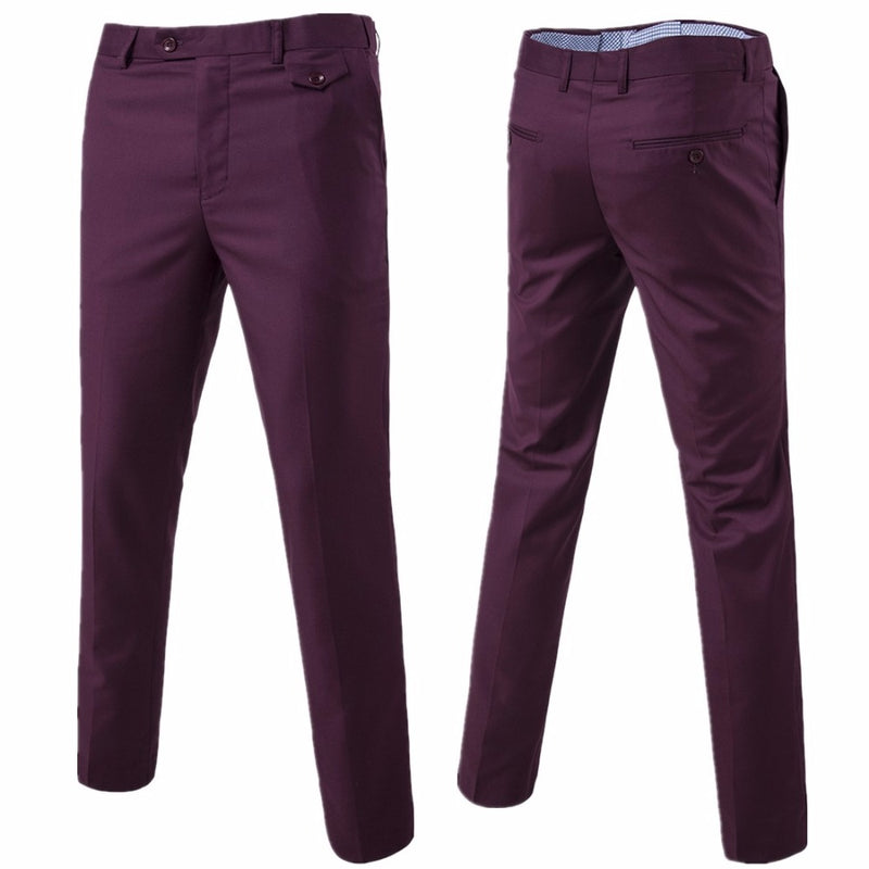 High Quality Men Pants Solid Spring and Summer Long sky blue pant Business Casual Trousers Full Length