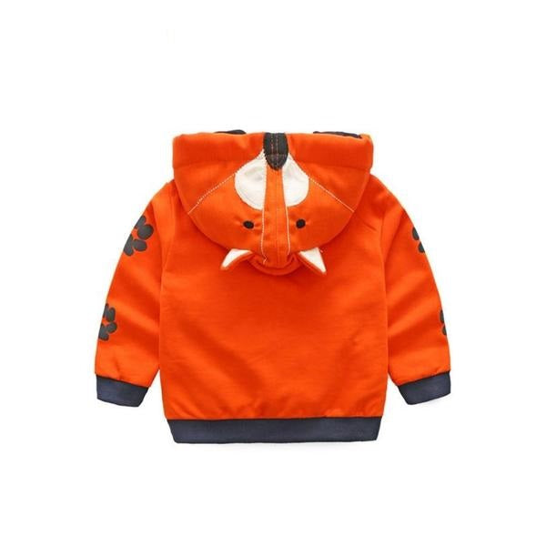 Coat Baby Jacket Casual Cartoon Hooded Tops Children Clothes Outerwear Roupa Infantil Menina Unisex Coat Dropshipping