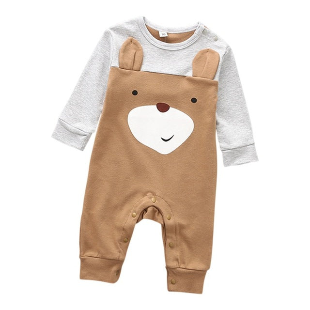 73c7cc603 JOHNKART.COM. $16.41 USD. Baby Romper Newborn Baby Boys Romper Girls  Playsuits Cotton Long Sleeve Animal Baby Clothes Infant ...