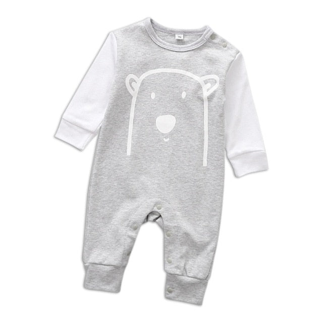 1144fafac8fd ... Baby Romper Newborn Baby Boys Romper Girls Playsuits Cotton Long Sleeve  Animal Baby Clothes Infant Pajamas ...