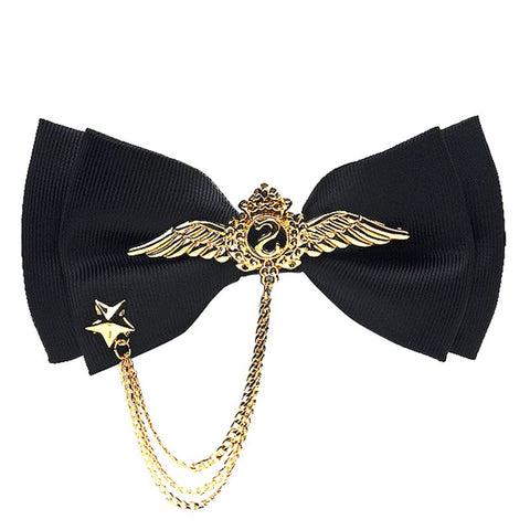 Free Shipping New casual male men's double necktie wedding groom groomsmen  metal ornaments host bridegroom bow tie