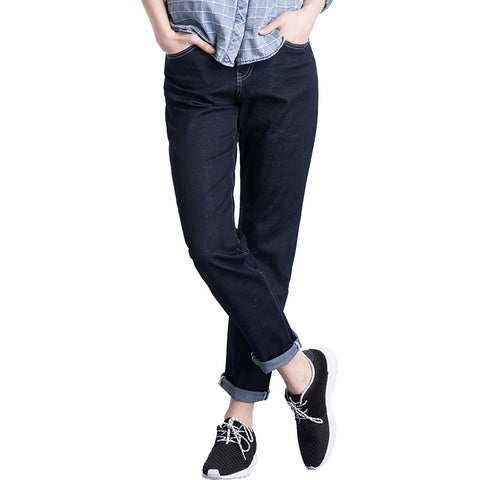 Cool Summer  Solid Publish Blue Washed Mid Waist Full Length Loose Women Harem Jeans