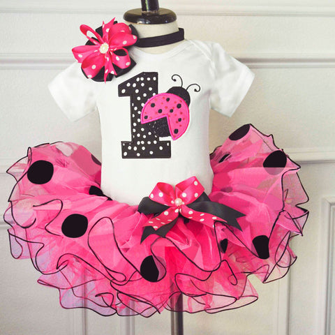 My Little Girl 1st Birthday Sets 1 Year Baby Clothes First Birthday Cake Smash Outfits Infant Christening Suits For 12 Months
