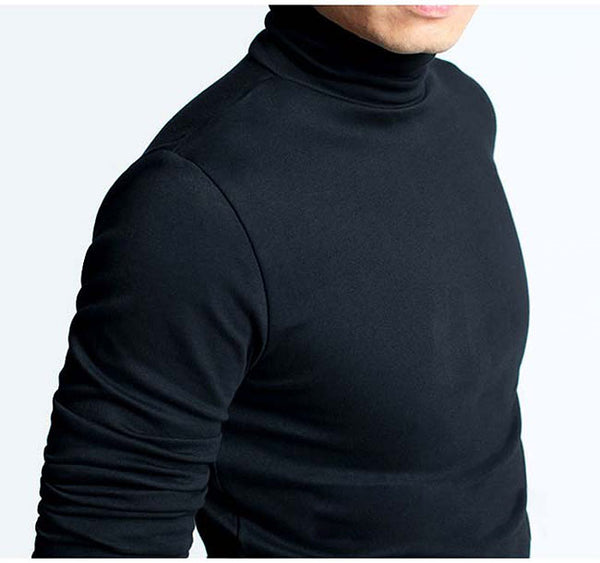 Mens Fashion Long Sleeve T-shirt Casual Shirt Turtleneck collar slim fit T shirt, Men's tees Drop Shipping Offered Kg024 C251