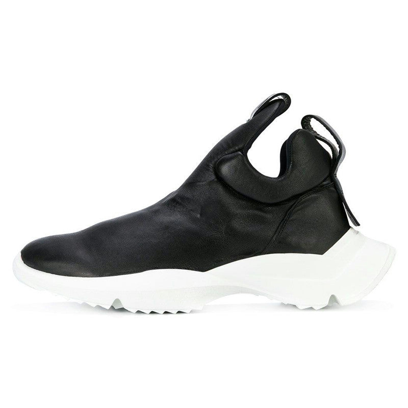 544ece0f535 ... Mens Personality Slip On Trainer Sneakers Luxury Genuine leather Punk  Thick Platform Shoes Male Fashion Hip ...