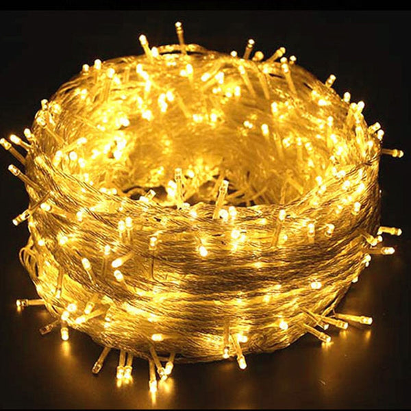 10M 100Pcs LED Strip Light New Year Decor Christmas Decoration For Home Garden Wedding Romantic Christmas Tree Ornament Light