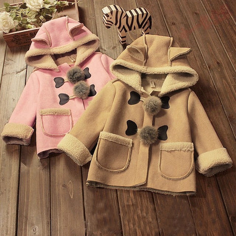 Baby Girls Winter Jackets with hat for Baby girls  boys newborn parka fur coat hooded baby jacket  parka infant clothes