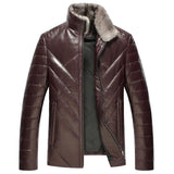 Natural sheepskin leather jacket men real mink fur stand collar fashion white duck down coats outerwear plus size M - 5XL