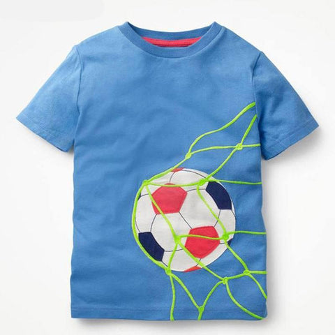 3-11T Football Clothes for Baby Toddler Boys T-Shirts Summer Children Kids Top Shirts For Cotton Boy Sports Clothing