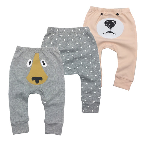 Infantil Toddler Newborn Baby Boys Girls Baby Girls Pants Unisex Casual Bottom Harem Pants PP Pants Fox Trousers 6M-24M