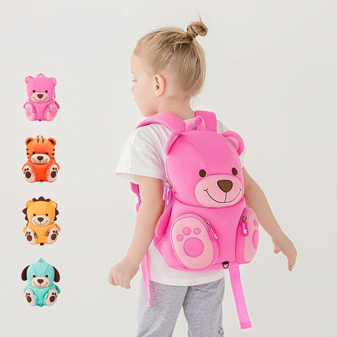 Animal Doll Pattern Kids School Bag Cute 3D Anti-lost Backpack Preschool Backpacks for Boy Girl's Kindergarten School Bag