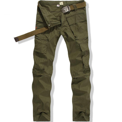 Army Military Fans Men Trousers Overalls Special Armies Trousers Wilderness Survival Pants Camouflage Tactical Pants No Belt