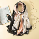 Fashion Scarf Luxury 100% Silk Scarf Women Scarves Shawl High Quality Print hijab wrap 180*90 CM