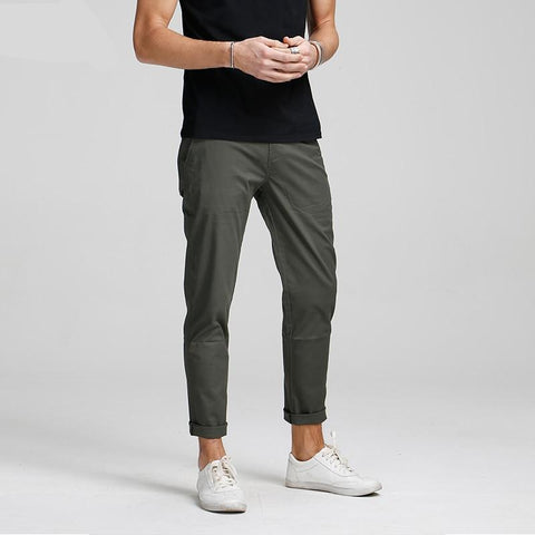 Cotton straight long trousers pants men casual pants man black solid Pants male free shipping plus size K6265
