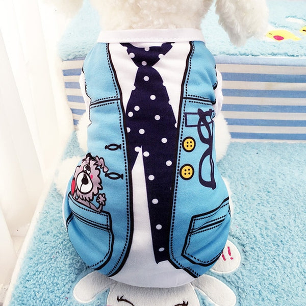 Hoomall Pet Puppy Summer Vest Small Dog  Dogs Clothing Cotton T Shirt Apparel Clothes Dog Vest Dog Clothes Products Vest