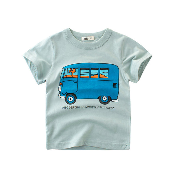 New Kids T Shirts Clothing Boys Girls Cotton Short Sleeve Cars Cartoon Children T-Shirt 2-8Y High Quality Cheap Tees Summer