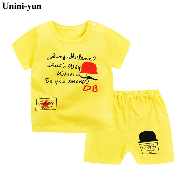 3bd73ba4f 2PCS Suit Baby Boy Clothes Children Summer Toddler Boys Clothing set ...