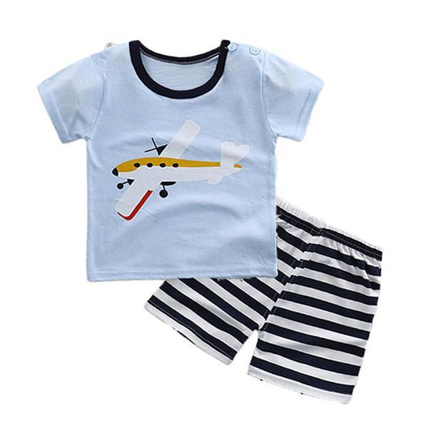 88166f67e224 ... 2PCS Suit Baby Boy Clothes Children Summer Toddler Boys Clothing set  Cartoon 2018 New Kids Fashion ...