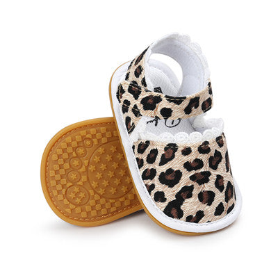New heart Lace Cute Baby sandals kids Summer girls sandals Sneakers First walkers Infant Fabric sandals 0-18 M