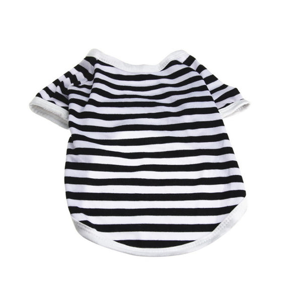 Hoomall Cotton Striped Dog Clothes Breathable Summer Vest Shirts For Teddy Dog Casual Clothes For Dog Pet Accessories Clothes
