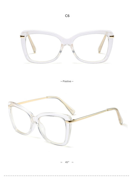 Spectacle Frame Women Eyeglasses Computer Myopia Optical For Female Vintage Ladies Eyewear Clear Lens Glasses Frame  RS467
