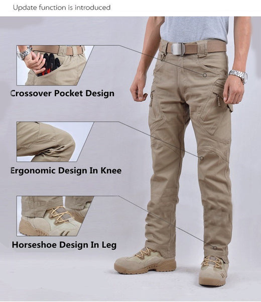 Men Militar Tactical Pants Combat Trousers SWAT Army Military Pants Mens Cargo Outdoors Pants Casual Cotton Trousers