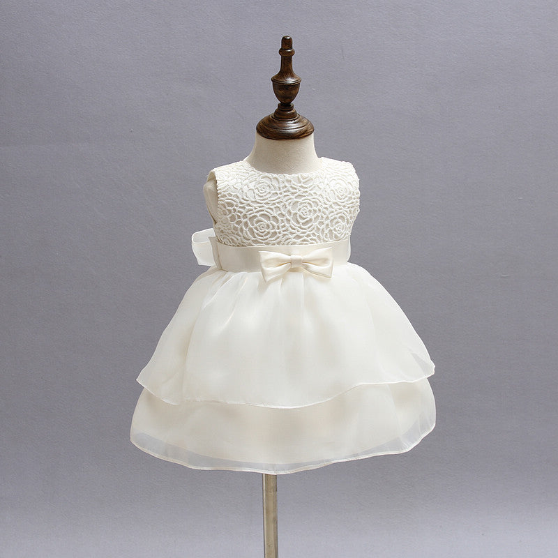 ... Bebes Christening Girl Tutu Dress Baby Girl Clothes For Infant Party  Wear Wedding Kids Dresses 1 ... 225832eee21a